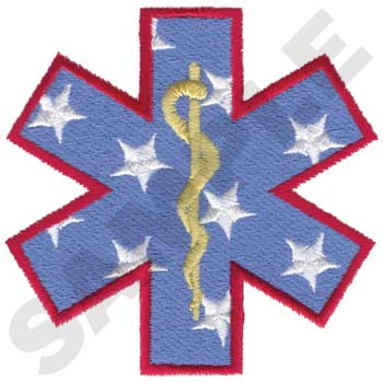EMT in MALTESE with FLAG LOGO CROSS STITCH PATTERN counted