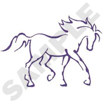 Pics Photos Running Horse Outline